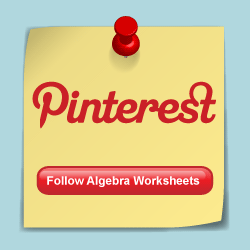 Follow Algebra Worksheets on Pinterest